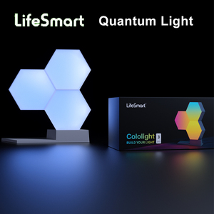Image 2 - LifeSmart LED lumière quantique géométrie intelligente assemblage bricolage lampe WiFi travail avec Google Assistant Alexa Cololight APP contrôle intelligent