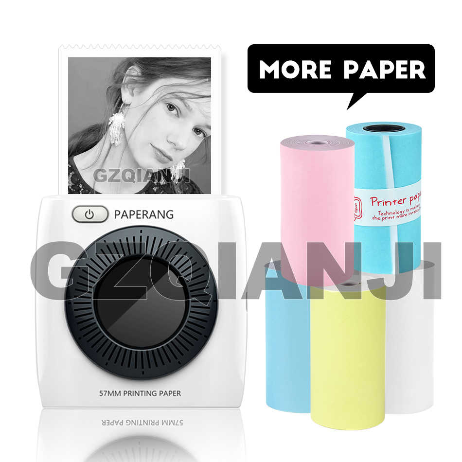 Paperang P2 Saku Mini Portable Bluetooth Thermal Label Stiker Foto Printer 300 Dpi untuk Ponsel IOS Android Windows