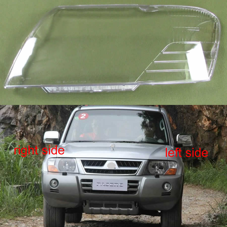 For Mitsubishi Pajero V73 V75 V77 2003 2004 2005 2006 2007-2011 Headlamps Shell Transparent Lampshade Headlight Cover Lens Glass