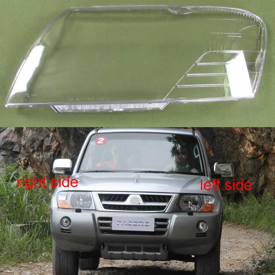 Per Mitsubishi Pajero V73 V75 V77 2003 2004 2005 2006 2007-2011 Fari Borsette Paralume Trasparente Copertura Del Faro Lente di Vetro