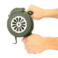 Hand Crank Siren Horn 110dB Manual Operated Metal Alarm Air Raid Emergency Safety NC99
