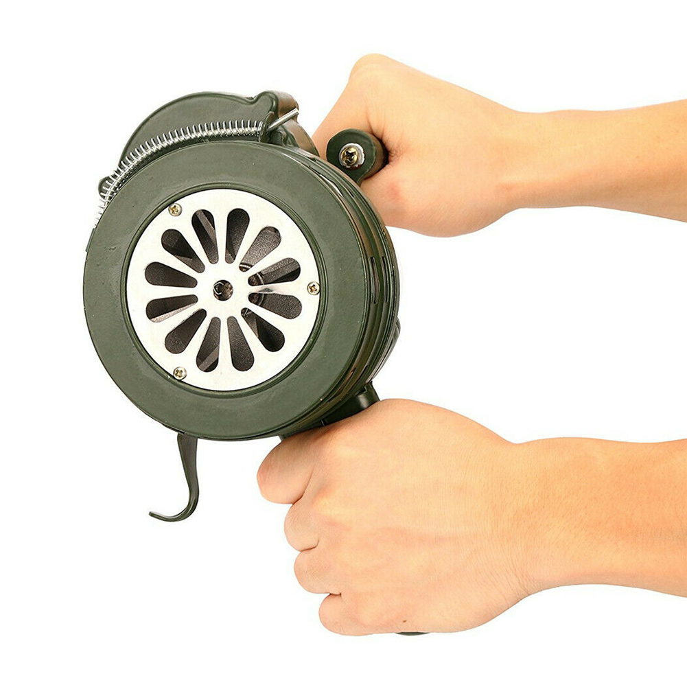 Hand Crank Siren Horn 110dB Manual Operated Metal Alarm Air Raid Emergency Safety NC99