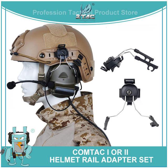 Ztac Tactical softair Military Peltor Headset Adapter Helmet Rail ...