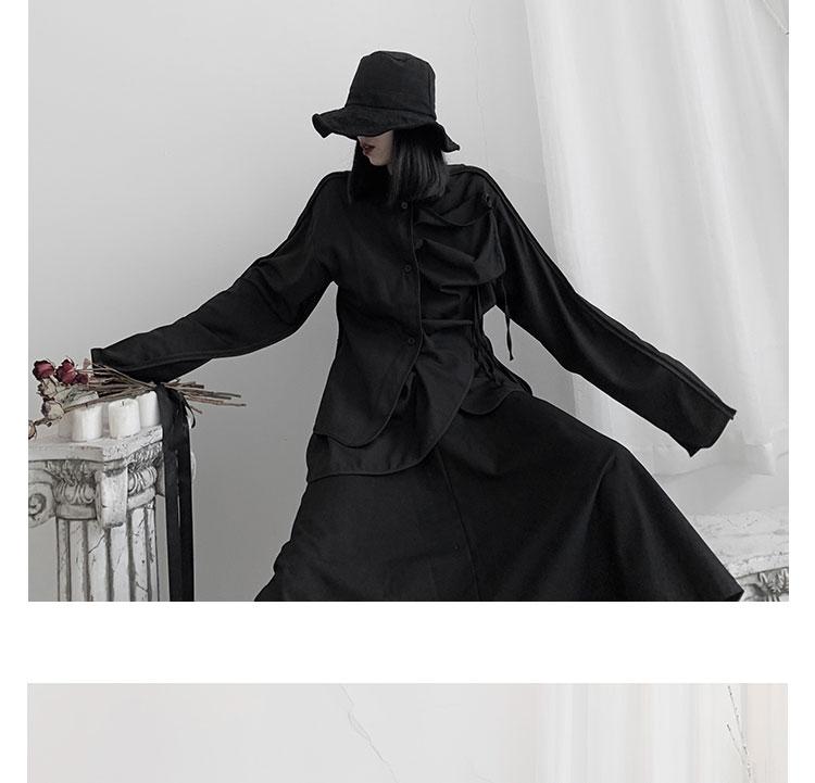 New Fashion Style Black Unique Asymmetrical Blouse Shirt Fashion Nova Clothing