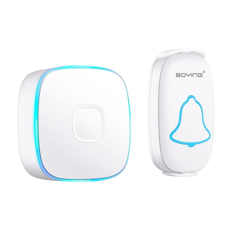 FFYY-Wireless Doorbell Waterproof 280M Range Smart 38 Melody Ring Door Bell 1 Push Doorbells Button + 1Receivers Vc110-220V(Us P