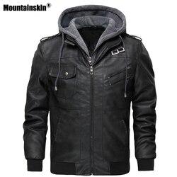 Mountainskin męskie kurtki skórzane 2020 nowa jesienna kurtki skórzane Casual motocykl kurtka PU męskie kurtki motocyklowe rozmiar ue SA723