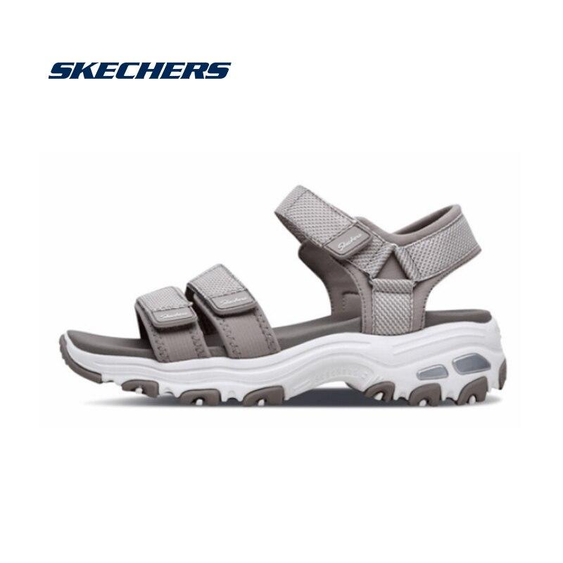 Skechers sandálias femininas sapatos dlite lite chunky sandálias senhoras med salto cunhas caminhada verão sapatos de praia moda 31657-tpe