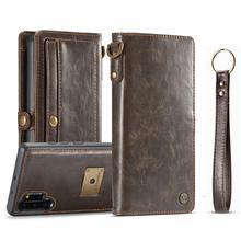 Custodia Flip in pelle Vintage per Samsung galaxy Note 10 plus 8 9 custodia a portafoglio magnetica staccabile per samsung S8 S9 S10 S20 +