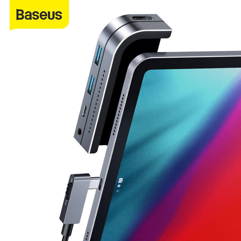 HUB USB C Baseus Type C HUB vers HDMI USB 3.0 PD Port 3.5mm prise téléphone portable USB-C adaptateur HUB USB pour MacBook Pro pour iPad Pro