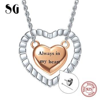 цена Bone ash Necklace 925 Sterling Silver Customized Fashion Jewelry Heart Pendant Friends Ornaments Lovers Gifts Free shipping онлайн в 2017 году