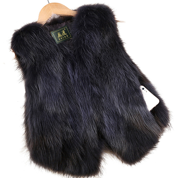 2020 Sleeveless Vest Real Fox Fur Gilvet Natural Fox Fur Vest Women Trend Fashion Factory Wholesale Retail Fur Waistcoat image