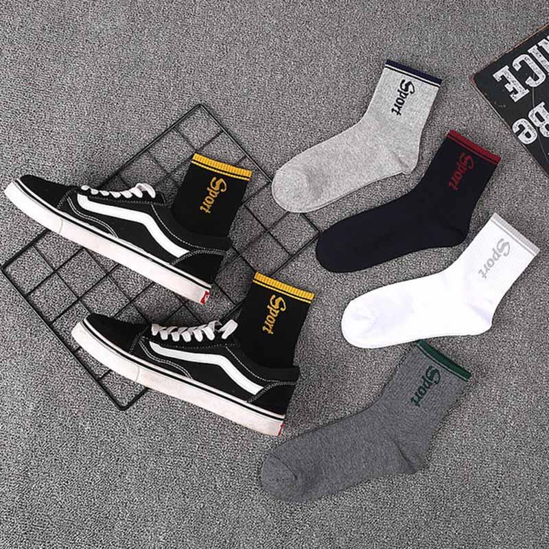 5 пар, мужские хлопковые Экспресс носки в стиле хип-хоп с буквенным принтом, хипстерские мужские носки, Skaterboard, уличная одежда, полосатые