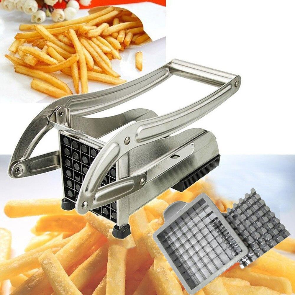 Машина для производства картофельных чипсов из нержавеющей стали, фри-фри, резак для картофеля, фри, машина для резки, 2 лезвия, различные отв...
