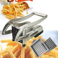 Chips Making Machine Rvs Franse Fry Aardappel Snijder Frietjes Cuttercutting Machine 2 Blades Verschillende Gaten-in Handmatige Friet Snijder van Huis & Tuin op