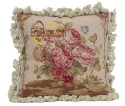 Needle Point Cushion Cushion For Car Large Handmade Beautiful Fringe Needlepoint Throw luxury Cushion
