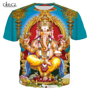 Hot Sale Basic T-Shirt Hinduism God Lord Ganesha 3D Print Ganesh Unisex Tees Women Men Summer T Shirt Tops Streetwear Sportswear