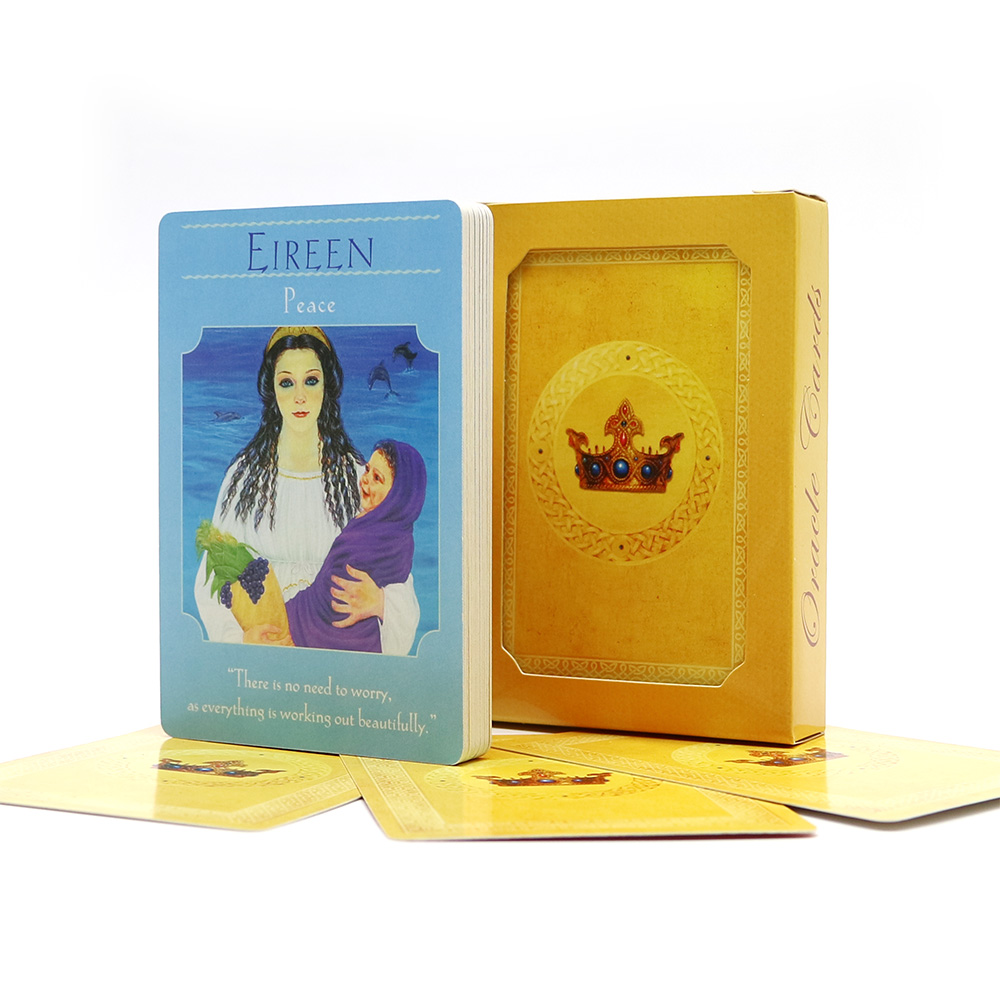 2019 English Goddess Oracle Deck 44 Cards, Tarot Cards Guidance Divination Fate Board Game Cards Game