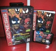 Spider Mannen Game Venomed Scheiding Anx Ons Cover Met Doos En Handleiding Forsega Megadrivegenesis Video Game Console 16 bit Md Kaart