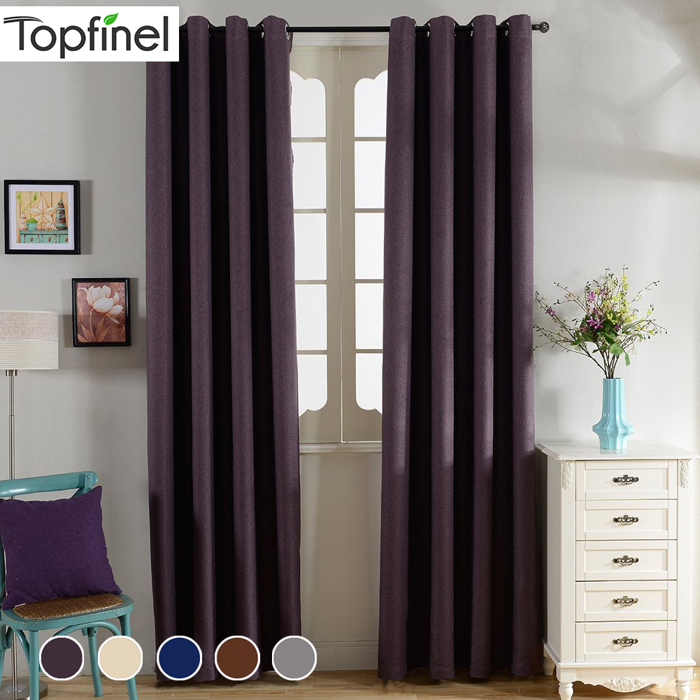 Topfinel Solid Blackout Curtains For Living Room Bedroom Window Treatments Thermal Insulated Curtains Panel Drapes