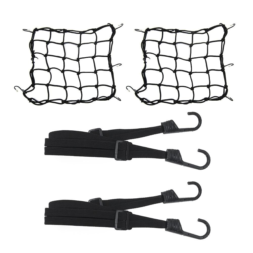 4pcs Motorcycle Plastic Hook Elastic Belt Bike Net Motorcycle Wire Luggage Net