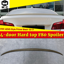For BMW F80 M3 Spoiler Trunk Tail Wing FRP Unpainted 3-Series 325i 328i 330i 4-Door Hard Top AEM3 Style Wings 2012-2017