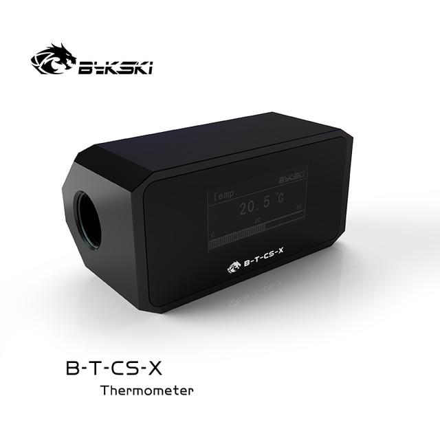 Bykski Water Cooler System Monitor for Temperature Meter / Water Flow OLED Display Double G1/4'' Flow Error Alarm, B-T-CS-X 1