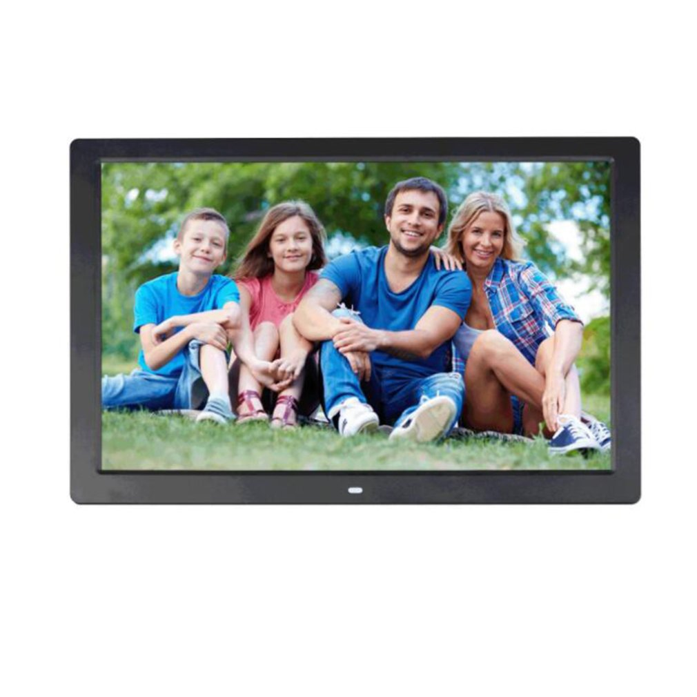 New 17 inch Screen LED Backlight HD 1024*600 Digital Photo Frame Electronic Album Picture Music Movie Full Function Good Gift image