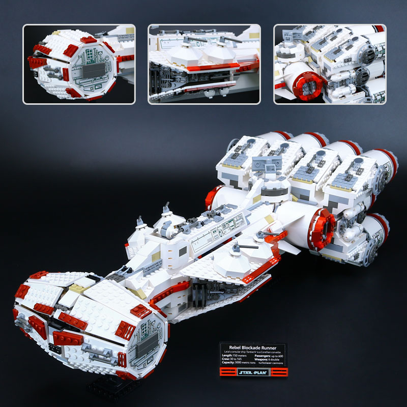 <font><b>05046</b></font> Star Plan The Tantive IV Blockade Runner with 10019 Wars Model Educational Building Blcoks Bricks Toys Children Gifts image