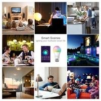 Tuya Smart Life Wifi Smart WiFi Light Bulbs  E27 10W 900Lm 6500K Cool White LED RGB Color Changing Bulbs for Alexa IFTTT Google Home Automation Modules Consumer Electronics -