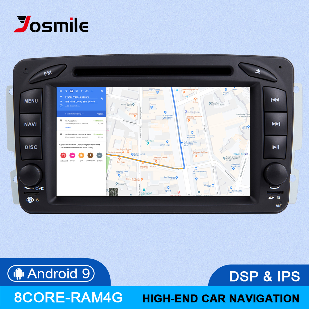 IPS DSP 4GB RAM 2din Android 9 Car DVD Player For Mercedes Benz CLK W209 W203 W463 W208 Multimeida GPS Radio Stereo audio Camera