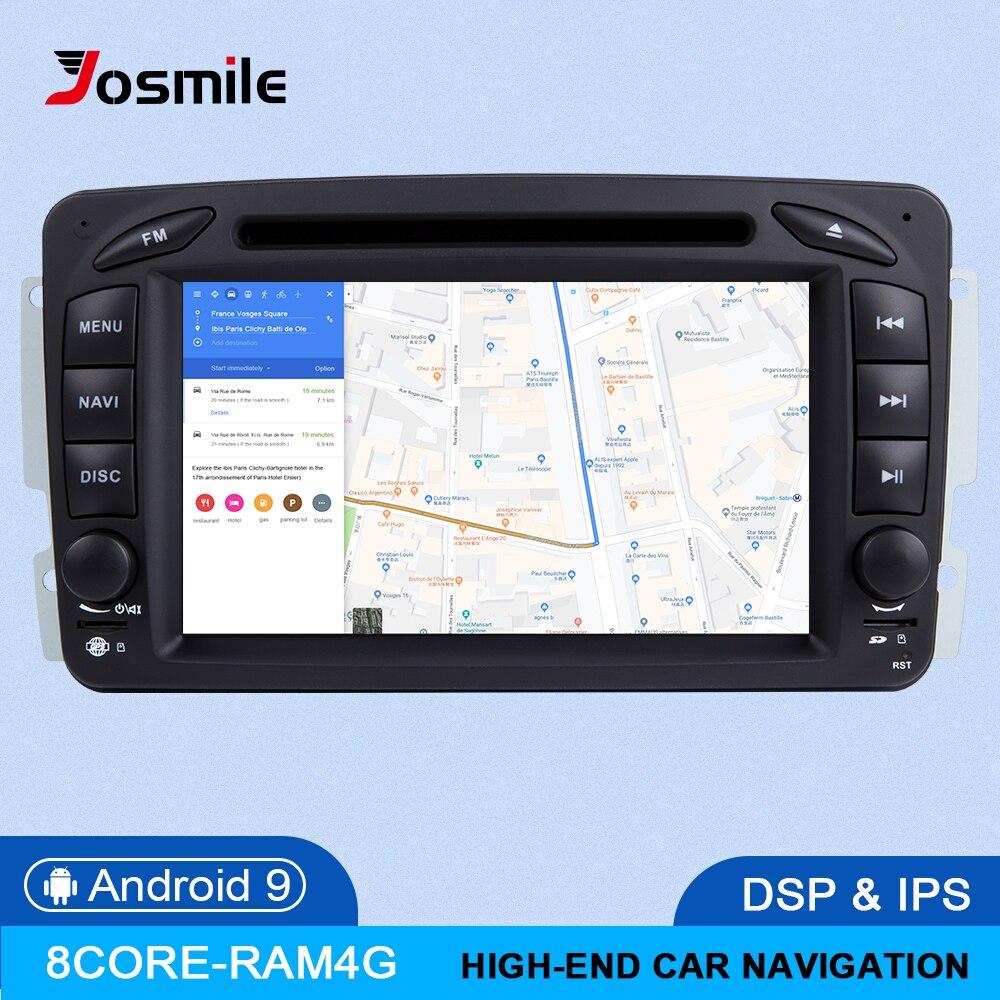 IPS DSP 4GB di RAM 2din Android 9 Lettore DVD Dell'automobile Per Mercedes Benz CLK W209 W203 W463 W208 Multimeida GPS Radio Stereo audio della Macchina Fotografica