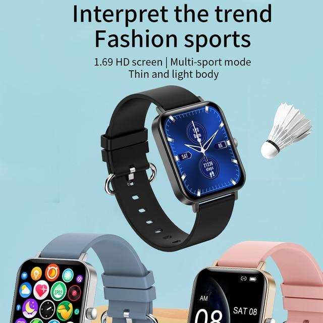 New CF82 Smart Watch Fitness Tracker 1.69 inch big screen IP67 Waterproof 2021 Sport Smartwatch women for Android IOS 2