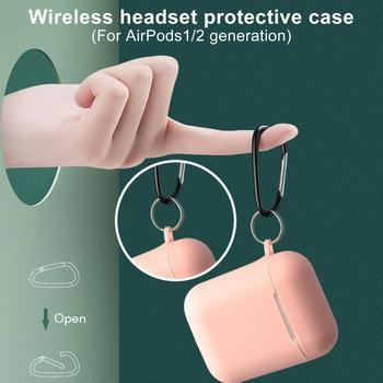 Soft Silicone Cases For Apple Airpods 1/2 Protective Case Bluetooth Wireless Earphone Cover For air pods Charging Box Bags image