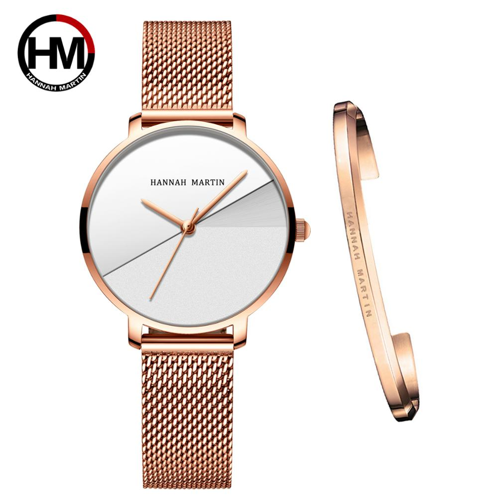 Women Watches Top Brand Luxury Japan Quartz Movement Stainless Steel Personality Splice Dial Wristwatches Relogio Feminino