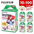 Пленка Fujifilm Instax Mini 9 с белым краем, 20, 30, 40, 60, 80, 100 листов, фотобумага для Fuji instant camera 8/9/11/25/70/90/liplay/link
