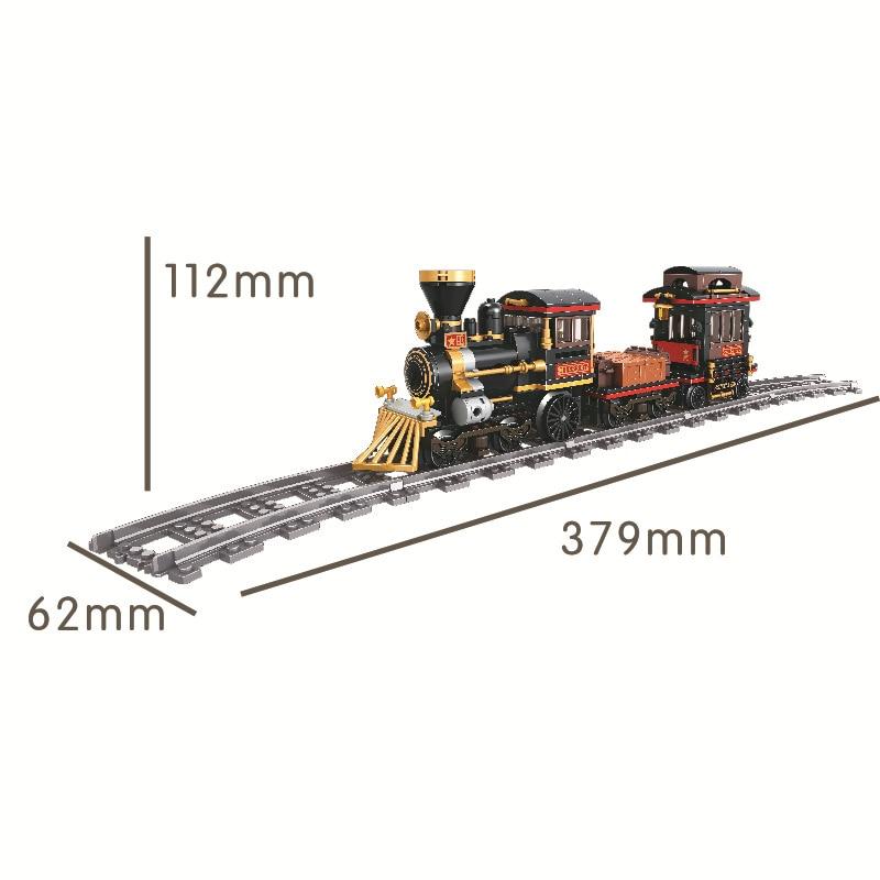 Image 2 - city Train track Rail way Building Blocks classic steam Bricks Kits Toys For Children Christmas gifts 5091Blocks   -