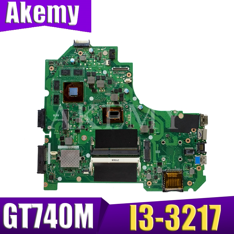 Akemy S550CB For ASUS S550CB K56CB S550C K56C A56C Loptop Motherboard Mianboard Tested 100% Work  With I3-3217  GT740M/2G