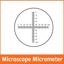 0,1 мм DIV стеклянный сценический окуляр объектив шкала скольжения измерительный микроскоп-микрометр Калибровочная линейка для микроскопа