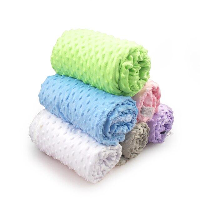 Baby Blanket & Swaddling Newborn Thermal Soft Fleece Blanket Winter Solid Bedding Set Cotton Quilt  Infant Bedding Swaddle Wrap 2