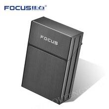 Чехол для сигарет FOCUS из АБС-пластика, 20 шт., емкость для сигарет, аксессуары для курения и коробка для карт, подарок для мужчин