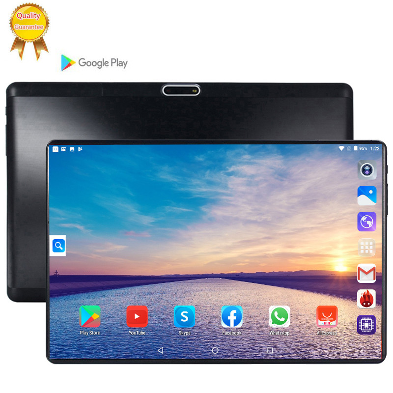 2.5D 10 Inch Tablet PC Android 9.0 Phablet 3G WCDMA 6G Tablets 6GB RAM 64GB 128GB ROM Octa Core Phone Call FM GPS Bluetooth 10.1