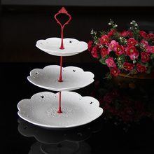 1 Sets 3 Tier Cake Plate Stand(plate Not Include) Handle Crown Fitting Metal Wedding Party Silver/golden Wholesale