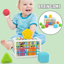 Baby Shape Sorting Toy With Elastic Band Color Recognition Sensory Toy Fine Motor Skill Practice Kid Preschool Education Jeux