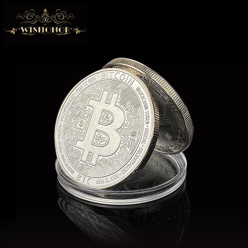 Биткоин, эфириум, литекоин, Dash,Ripple, портативная монета, EOS, металлические физические серебряные, позолоченные памятные монеты BTC