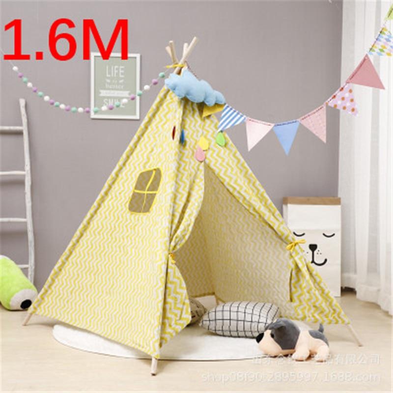 1.6M House For Children Tent Portable Kids Tent Cabana Tipi Infantil Baby Teepee Tents Castle Carpet/LED Lights/Decoration
