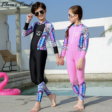 Swimsuit Kids One Piece Long Sleeve Girls Boys Swimwear UPF50 Children Swimming Suit Teenager Bath Clothes Surfing Diving Suit new boys swimwear kids surfing wear long sleeve children swimwear summer wear swimming suit