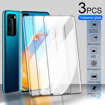 Перейти на Алиэкспресс и купить 3 шт закаленное стекло для Huawei P30 P40 P20 Lite Защита экрана для Huawei Nova 5t P smart Y9 Prime 2019 стекло P30 Pro пленка