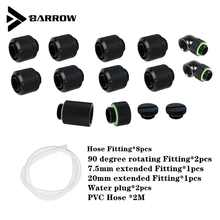 Barrow AIO PC Split  Hose Water Cooling Kit  DIY Computer Water Cooling  With Fittings Liquid Loop Kit Black Silver White Gold