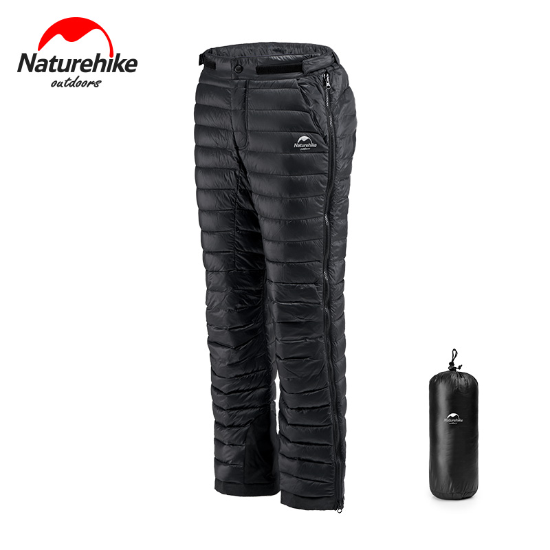 Naturehike Outdoor Thermal Goose Down Camping Hiking Skiing Pants Both Side Open Zipper Windproof Waterproof Trousers