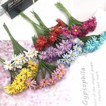 10 PCS/artificial linen small Daisy bouquet wedding home decoration DIY garlands gift box collage simulation flower